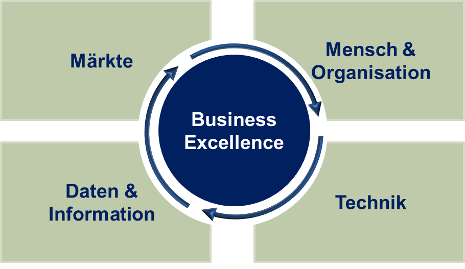 Kompetenz der QMC: Business Excellence